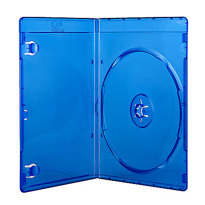 7mm Ultra Thin Blu Ray Logo Plastic Blue Case for One Game Movie Disc Storage