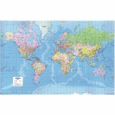 Map Marketing Giant World Political Laminated Map GWLD [MM05271]