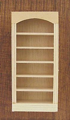 Dollhouse Miniature 1:24 Scale Five Shelf Bookcase in Natural Wood