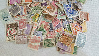 Assortment of 100 Worldwide Foreign Stamps Lot - Over  75 years Old ~
