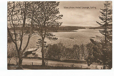Postcard View from Hotel Lounge, Lairg Sutherland Scotland   (A16)
