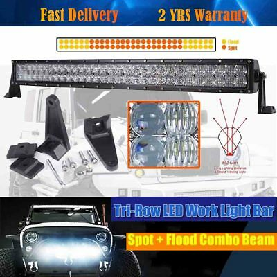 """5D 420W 31"""" Combo LED Curved Light Bar Work Offroad Driving OSRAM Jeep SUV 4WD"""