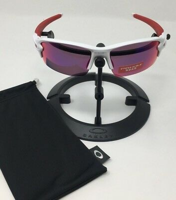 46c87805b8 OAKLEY Flak 2.0 Sunglasses Polished White Red Prizm lenses AUTHENTIC OO9295 -05