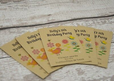 Personalised Birthday Favour Seed Packet - Birds And Bees - Eco Favour Teacher