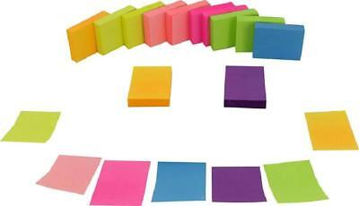 Sticky Notes Set Self-Stick Notes 1 1/2 x 2 In Neon Assorted 1200 Sheets 12 Pads