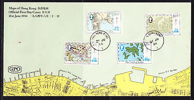 Hong Kong 1984 Maps First Day Cover