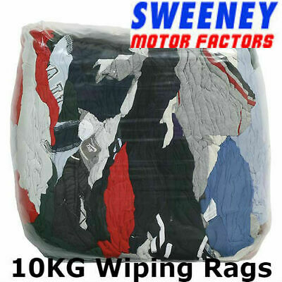 10kg Bag Of Rags Wiping Cloths Garage Workshop Polishing Rags