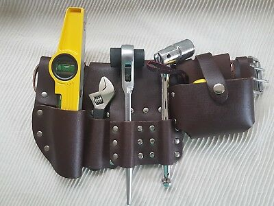 Scaffolding Brown Leather Tool Belt 10'' Ratchet 1921 mm Spanner 716 Level Tape