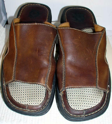 49f42cf80a4c MEN S BORN BROWN Leather Sandals - Size 10 -  12.50