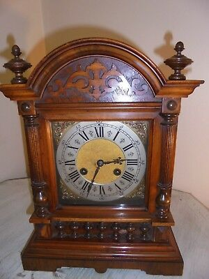 Antique Oak German Bracket Clock