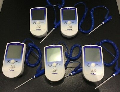 LOT/5 FILAC FASTEMP DIGITAL THERMOMETERS - ALL POWER ON              kp