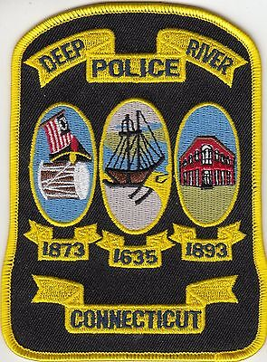 Deep River Connecticut Ct Police Shoulder Patch