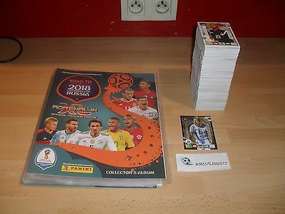 Classeur Panini Adrenalyn Xl Road To Russia 2018 Vide + 319 Cartes + 1 Limited