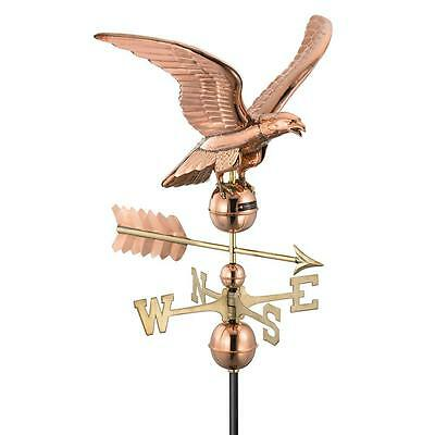 Smithsonian Pure Polished Copper 30-in x 23-in x 23-in Eagle Weathervane