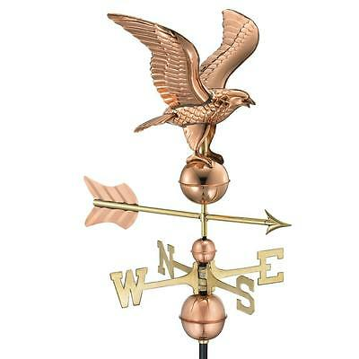 Polished Copper 35-in x 21-in x 18-in American Eagle Free Standing Weathervane