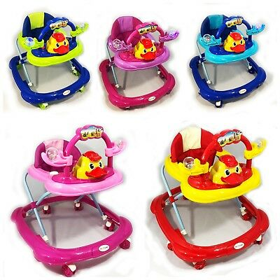 Baby Walker First Steps Push Along Bouncer Activity Hello Duck Music Ride On New