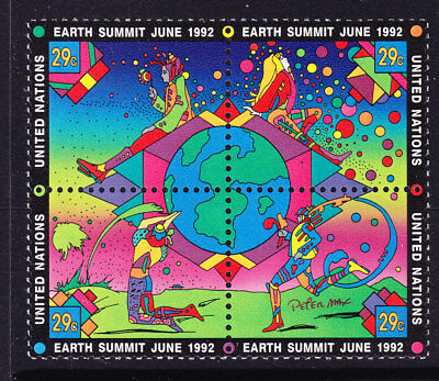 United Nations  1993 Earth Summit Block 4 MNH