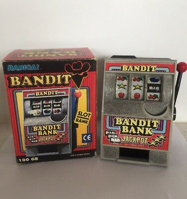 Radica One Arm Bandit Coin Bank Jackpot Slot Machine