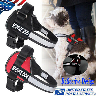 Service Dog Vest Harness Adjustable Patches Reflective Small Large Medium S-XL