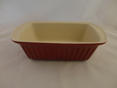 "Good Cook Stoneware Red 9"" x 5"" Loaf Pan (728)"