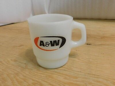 Vintage A&W Stacking Coffee Cup Anchor Hocking Fire-King