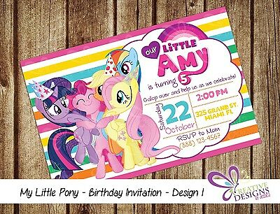 photograph regarding My Little Pony Printable Invitations known as MY Tiny PONY Birthday Invitation - Customized - Electronic Printable History