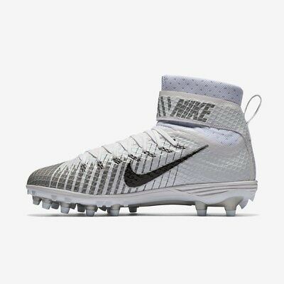 new style 22904 7b3bc NEW  130 Nike Lunarbeast Elite TD Football Cleats White   Gray Stealth SZ 10