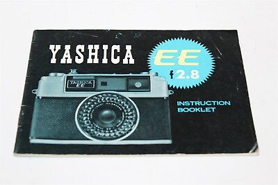 Yashica EE F2.8 Instruction Booklet Printed In Japan Yashica Co. Ltd