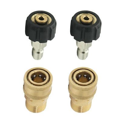 2 Sets Quick Connector M22/14 to 1/4 Male Adapter Pressure Washer Connect