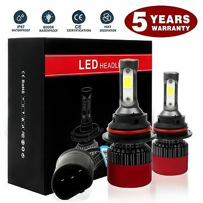 High Power CREE 7200W 800000LM HB5 9007 9004 HB1 LED Headlights Lamp Bulbs X2