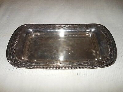 "Vintage N4365  EPNS By Wallace 13.5"" Silver Plated Tray"