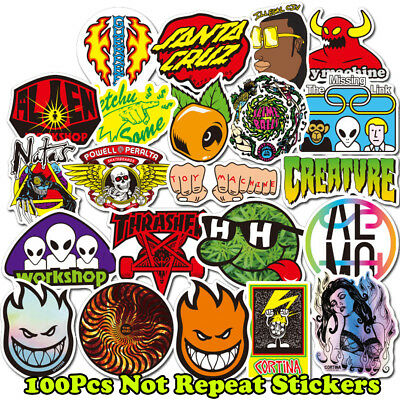 100pcs Car Luggage Skateboard Vinyl Decals Personality Graffiti Laptop Stickers