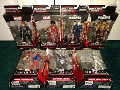 Rhino BAF Marvel Legends ALL MISP Spiderman Ghost Rider Kraven Venom Chameleon +