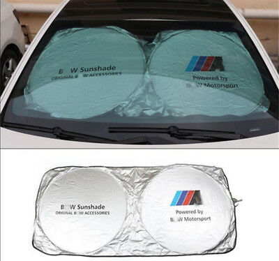 Car Windshield SunShade Block UV Ray Foldable Sun Visors protector for BMW //M