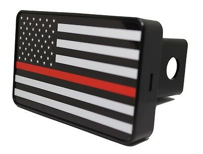 Bright Hitch - Thin Red Line American Flag Hitch Cover