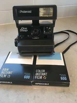 Polaroid 600 One Step Instant Camera + Impossible Film Film Tested 100%