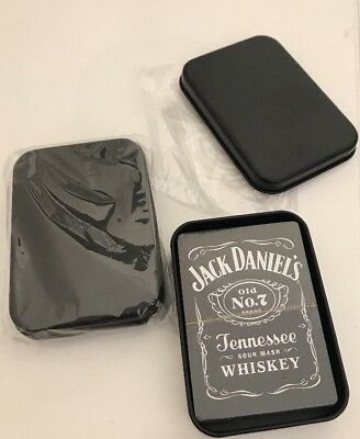 2 JACK DANIEL'S playing cards Packs in tin box New And Sealed Free Post