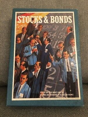 Vintage 1964 3M Bookshelf Stocks And Bonds Board Game
