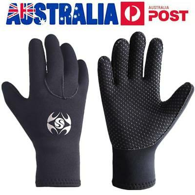 AU 3mm Neoprene Diving Wetsuit Gloves Swimming Surfing Snorkeling Coldproof Mitt