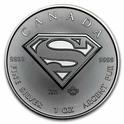 2016 Superman S Shield 1oz .9999 Silver Bullion Coin - Royal Canadian Mint