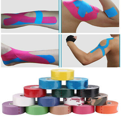 1Roll 5M Professional Kinesiology Sports Tape Muscles Care Elastic Sports Tape
