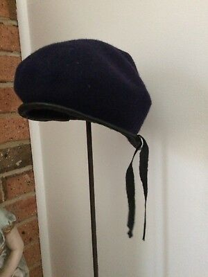 Little Blue French Vintage Beret Hat -  suit small head up to 21 inches
