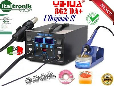 SOLDERING STATION DESOLDERING AIR WARM YIHUA 862 DA+ 2 in 1 WITH GIFTS