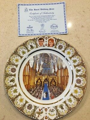 Prince Andrew And Sarah Ferguson Royal Wedding Plate 1986