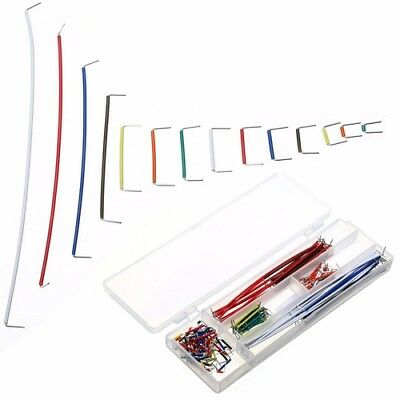140 Pcs Breadboard Jumper Cable Wire Kit with Box 22 AWG 14 Length For Arduino