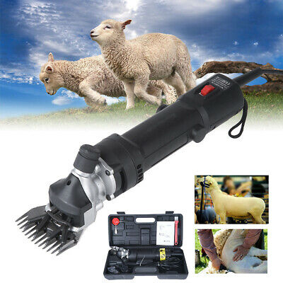 320W Electric Sheep Goats Shearing Clipper Supplies Alpaca Wool Farm Shears Tool