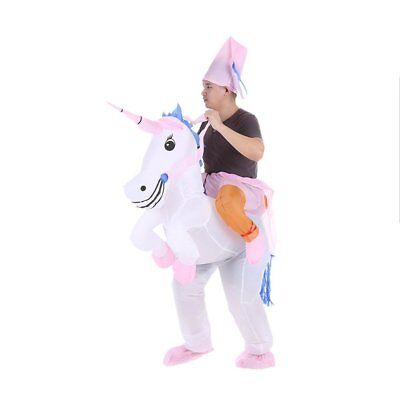 Anself Adulti Gonfiabile Unicorno Costume Cavallo per Halloween Partito (N3m)