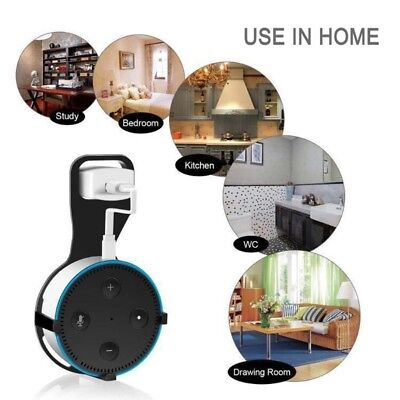 For Amazon Echo Dot 2nd Bluetooth Speaker Wall Mount Hanger Holder Cradle+Cable