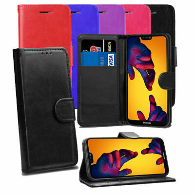 Case For Huawei Y6 2018 Phone Luxury Leather Magnetic Flip Wallet Stand Cover