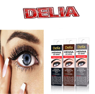 NEW Delia Eyebrow HENNA Traditional Tint Brown Black Graphite Eyelashes 2ml